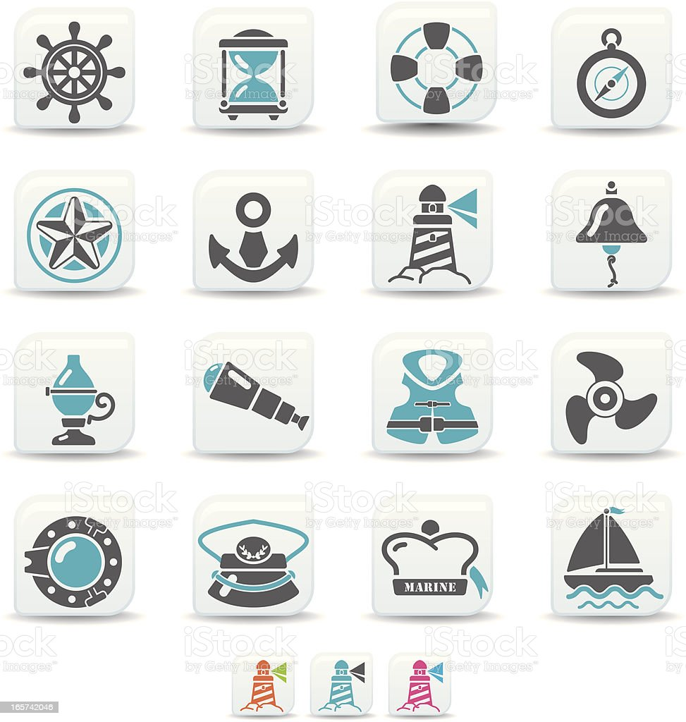 nautical icons | simicoso collection royalty-free stock vector art