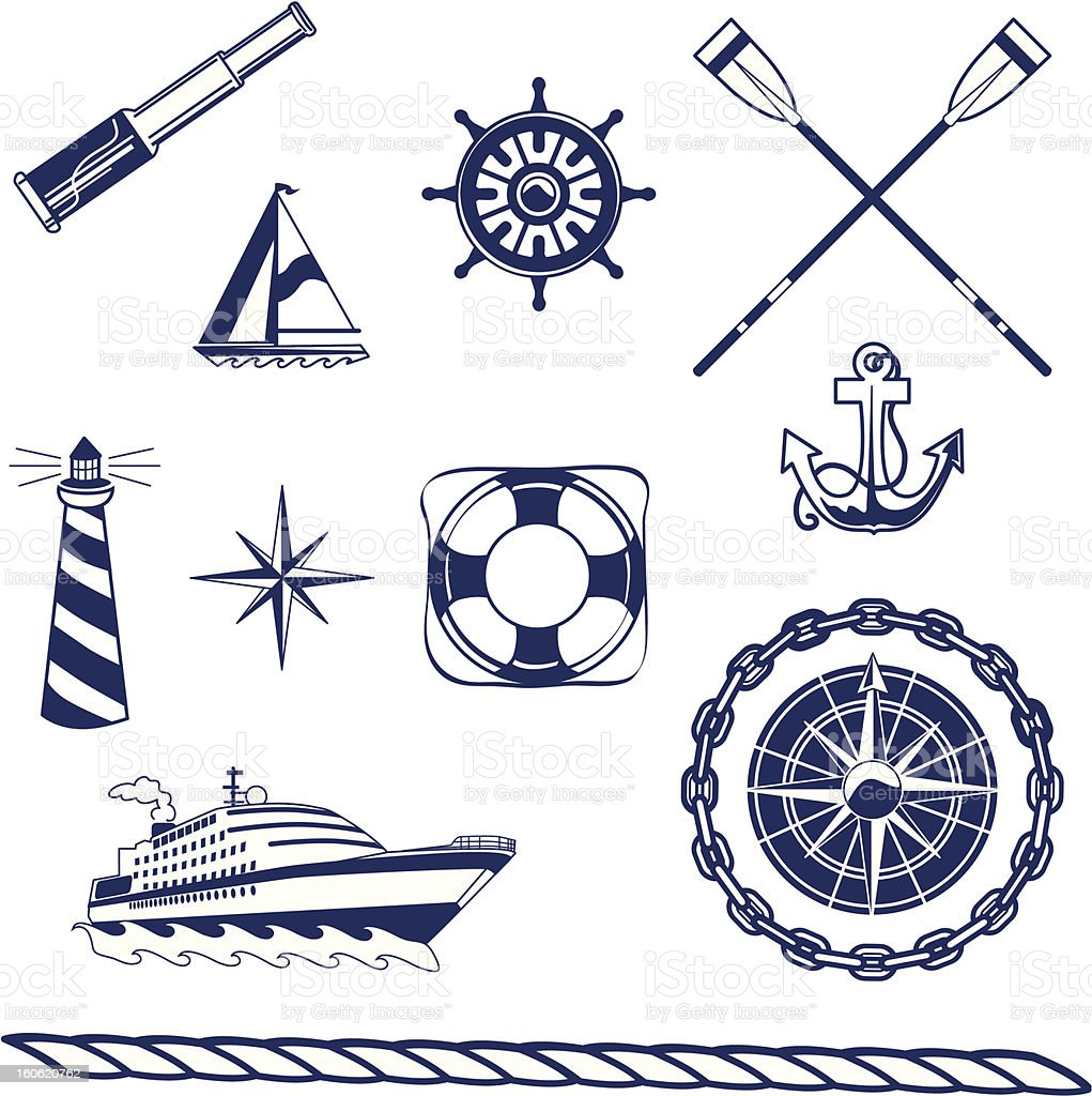Nautical Icons royalty-free stock vector art