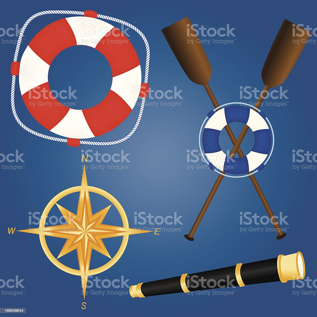 Nautical Items royalty-free stock vector art