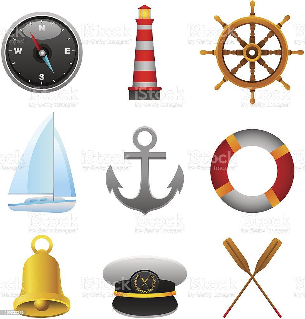 Nautical Set royalty-free stock vector art