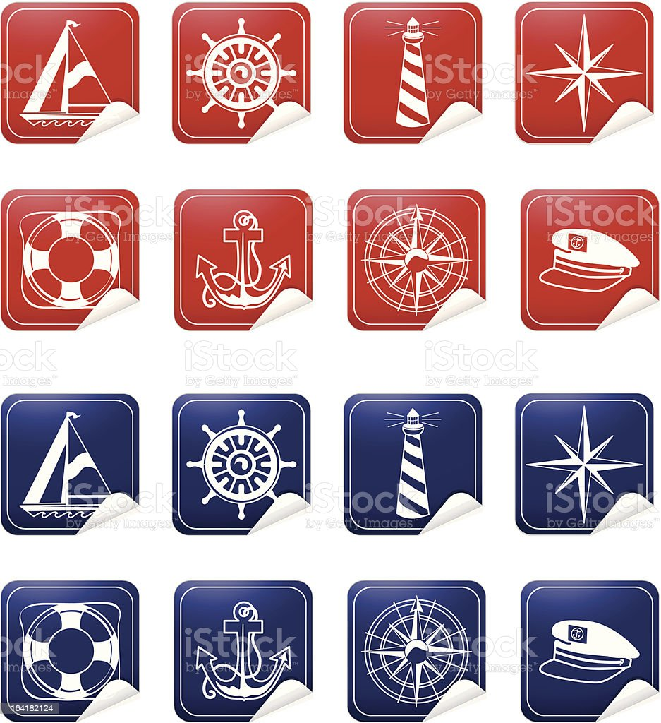 Nautical Stickers royalty-free stock vector art