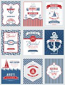 Nautical Theme Party Invitations Set