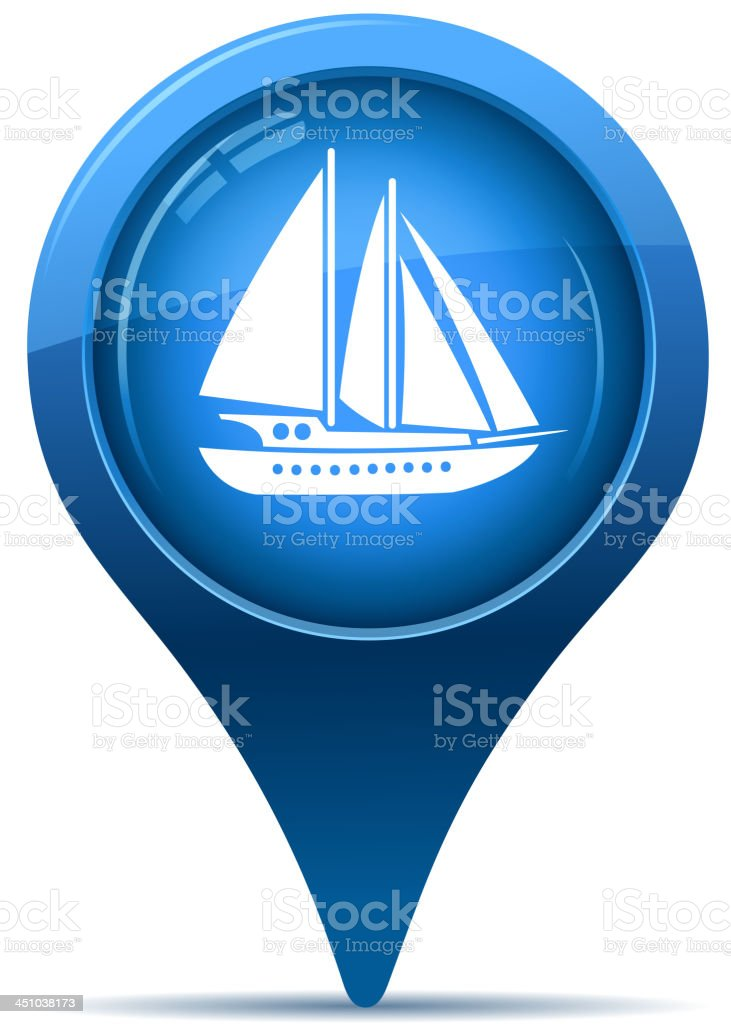 nautical vessel pointer royalty-free stock vector art