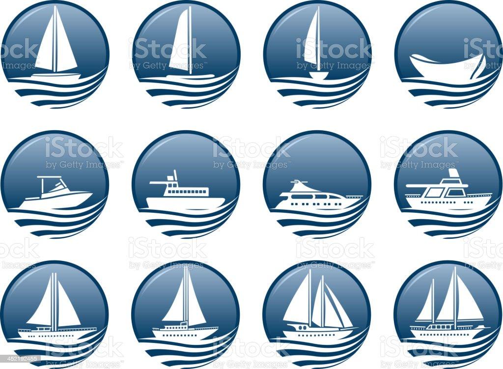 nautical vessel symbols. royalty-free stock vector art