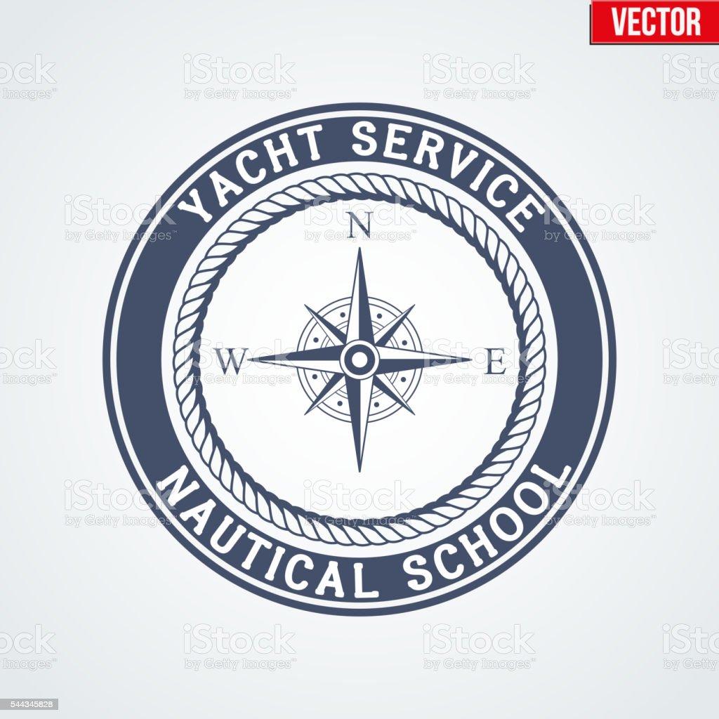 Nautical Yacht logotype vector art illustration
