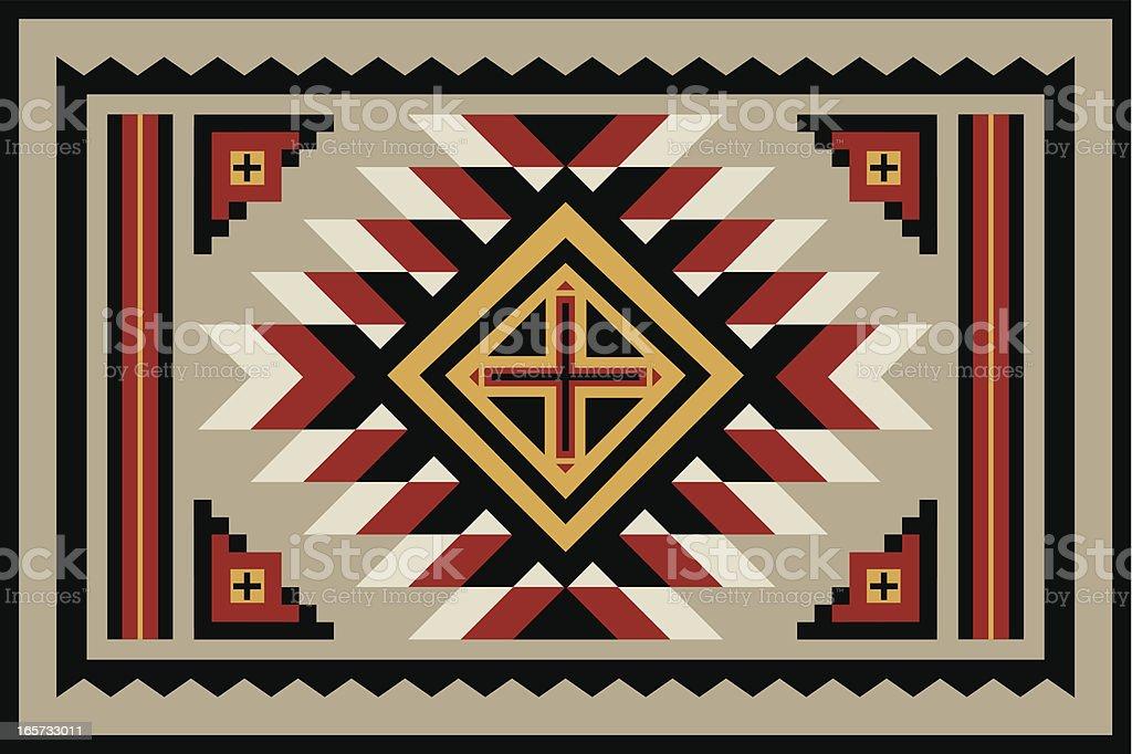 Navajo Rug vector art illustration