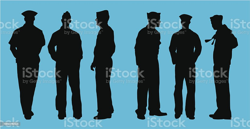 Naval Officers ( vector ) royalty-free stock vector art