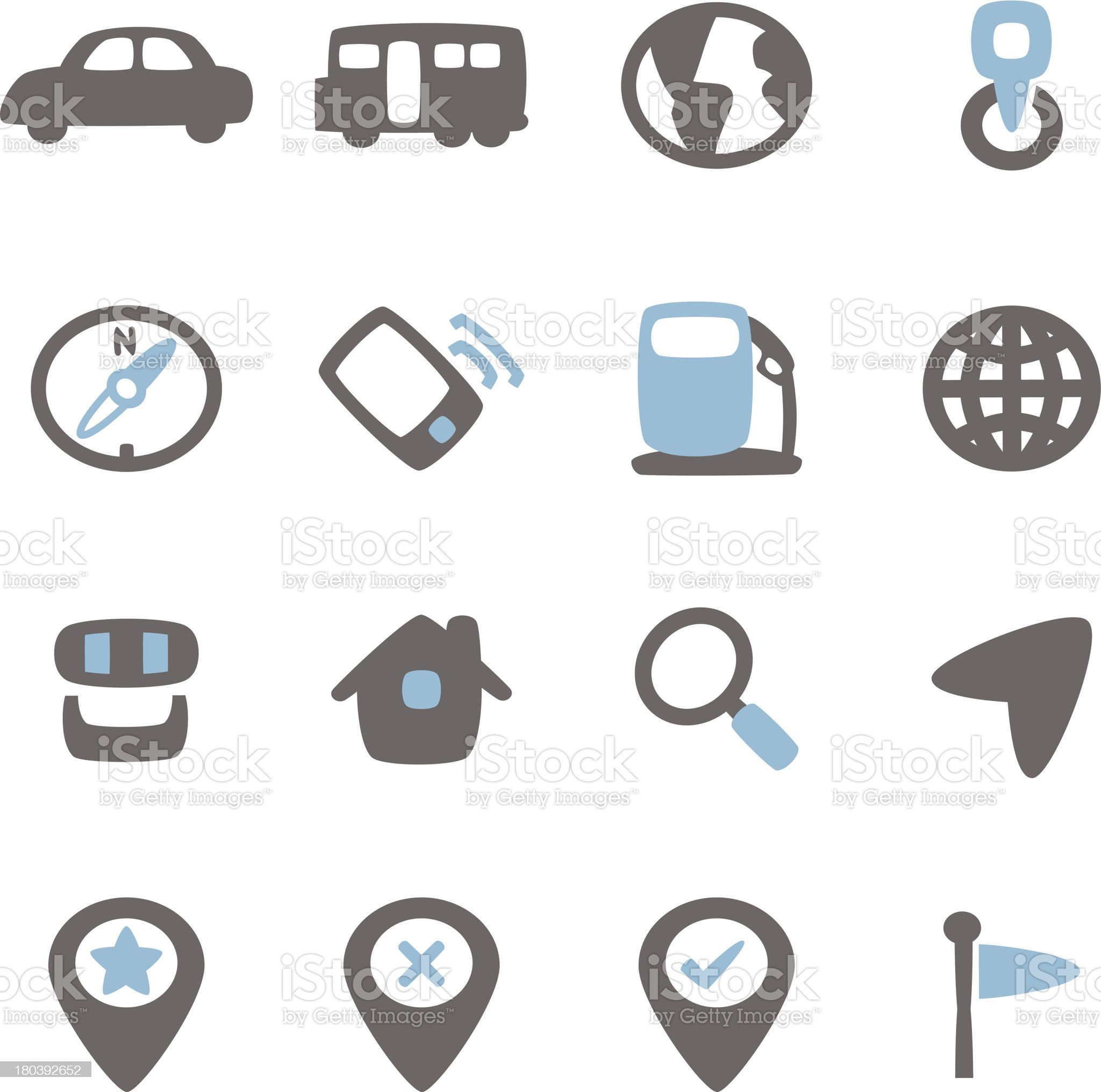 Navigate Icon royalty-free stock vector art