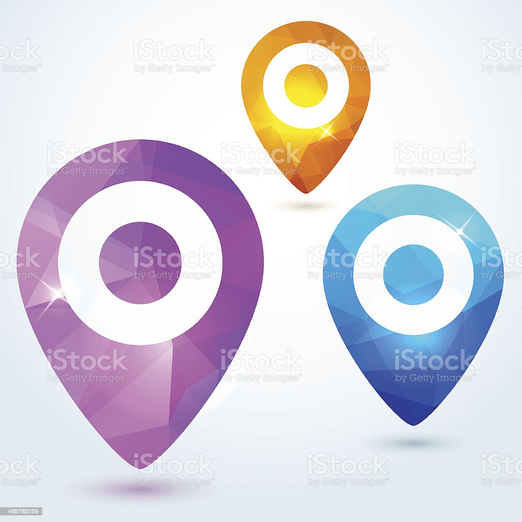 Navigate pin icons vector art illustration