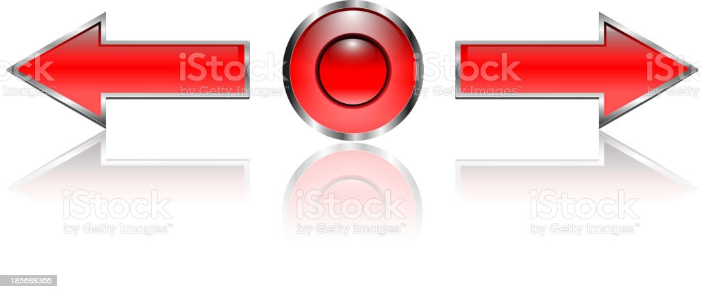 Navigation arrows, web buttons royalty-free stock vector art