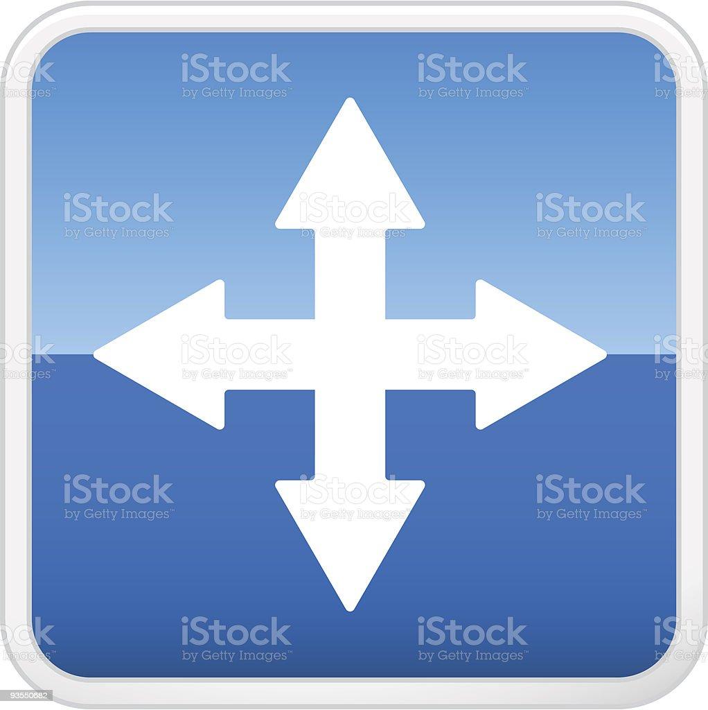 Navigation button vector art illustration