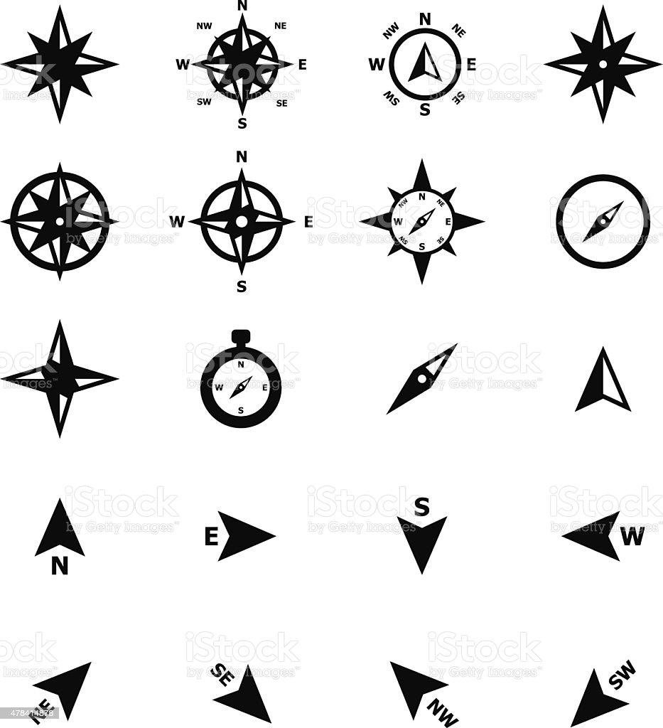 Navigation Compass Icon vector art illustration