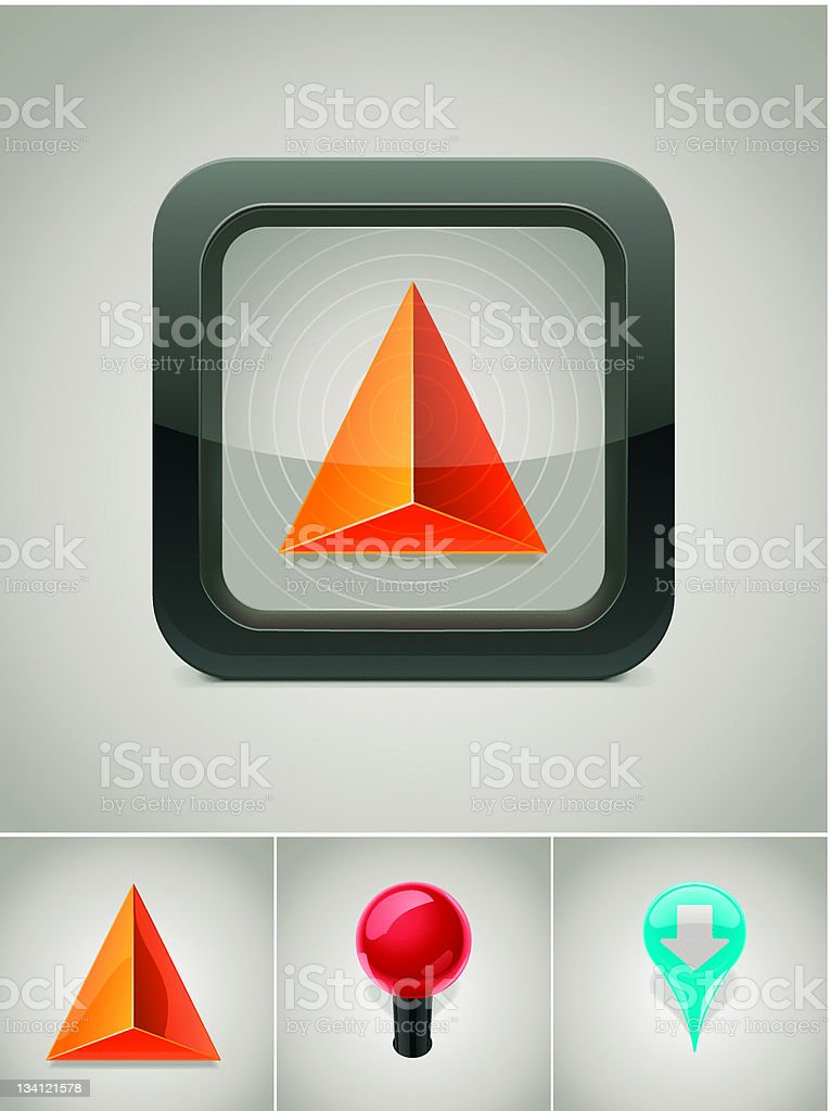 GPS navigation icon royalty-free stock vector art