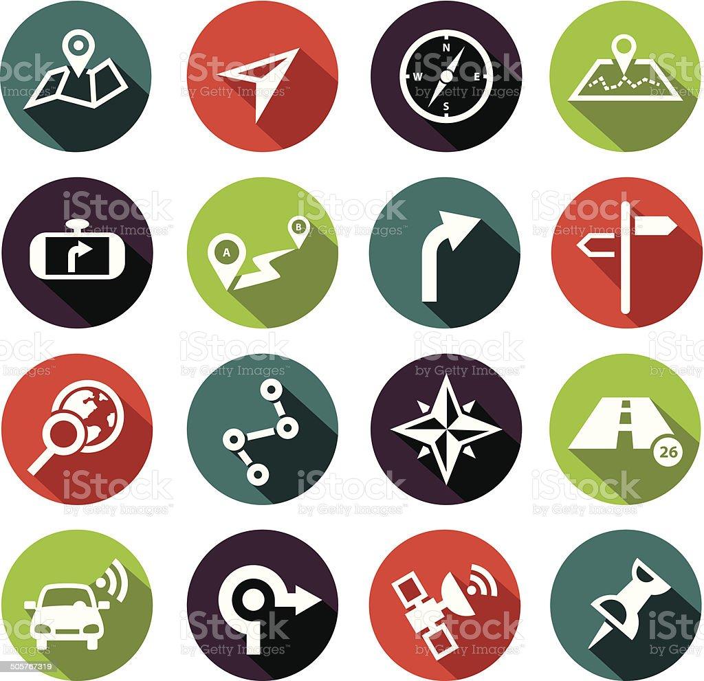 Navigation Icons Flat Design vector art illustration
