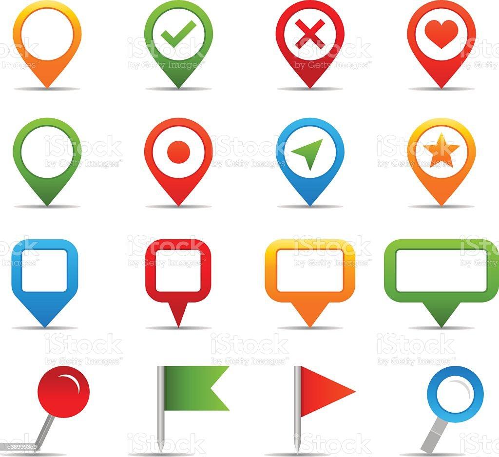 Navigation icons - Illustration vector art illustration
