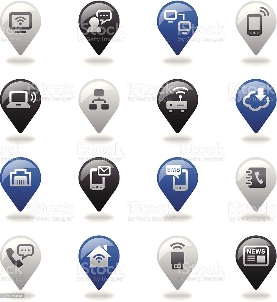 Navigation Icons Set | Communication royalty-free stock vector art