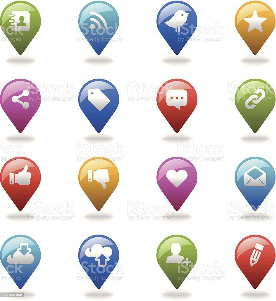 Navigation Icons Set | Social Media royalty-free stock vector art