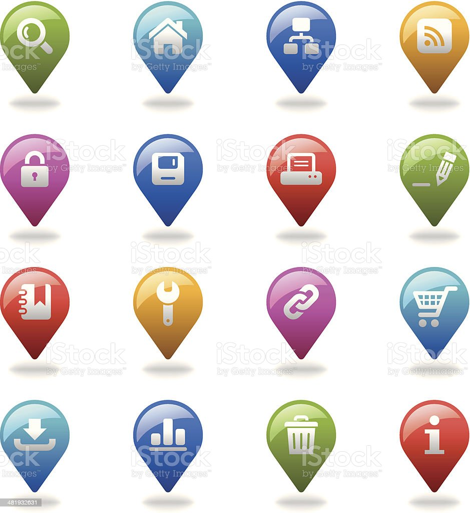 Navigation Icons Set | Web & Internet royalty-free stock vector art