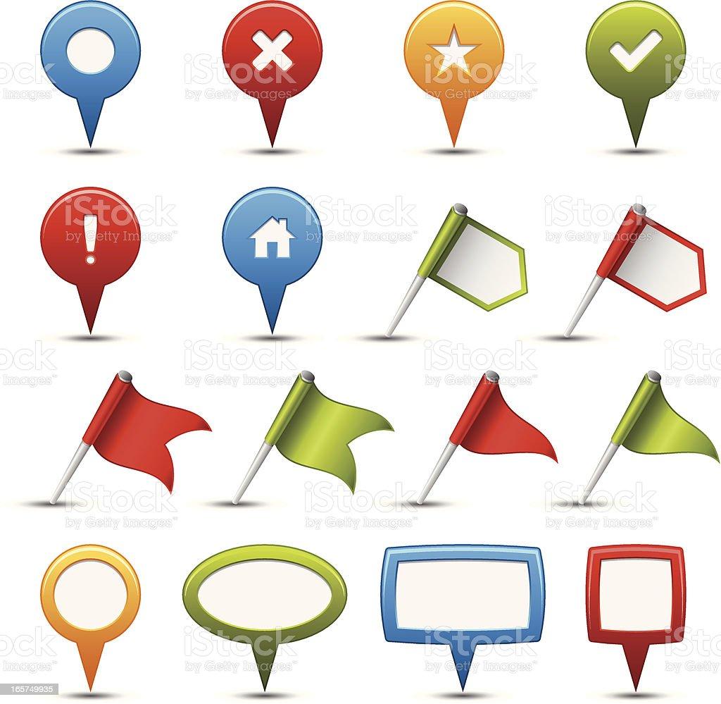 Navigation Icons royalty-free stock vector art