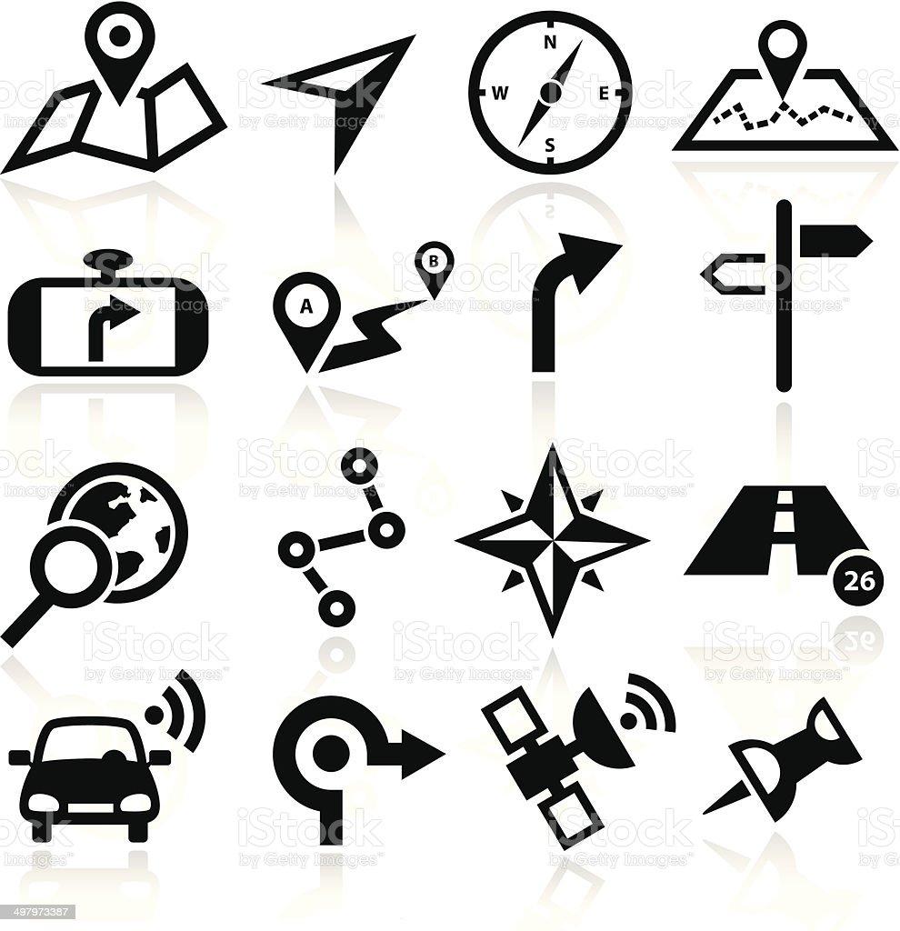 Navigation Icons vector art illustration
