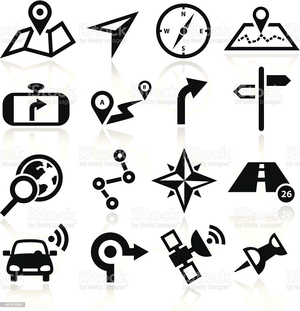 Navigation Icons vector art illustration