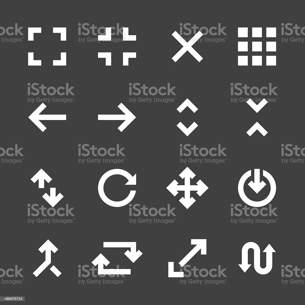 Navigation Icons - White Series vector art illustration