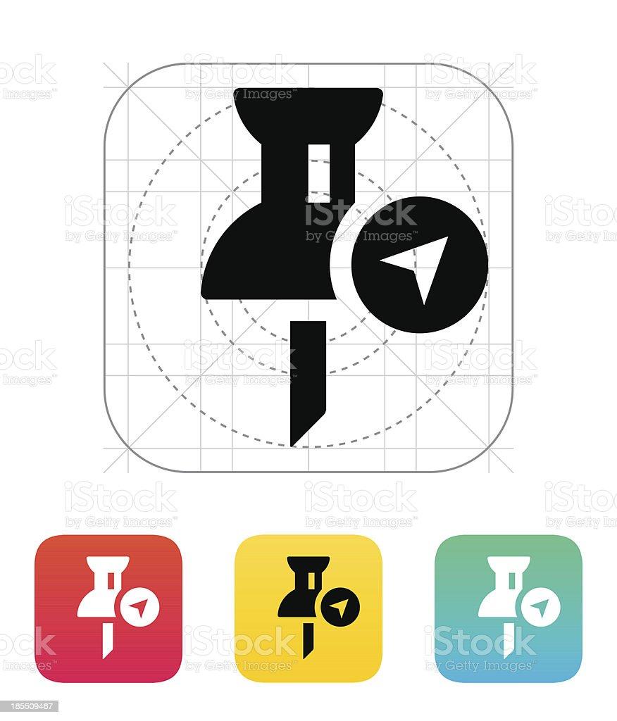 Navigation pin icon. royalty-free stock vector art