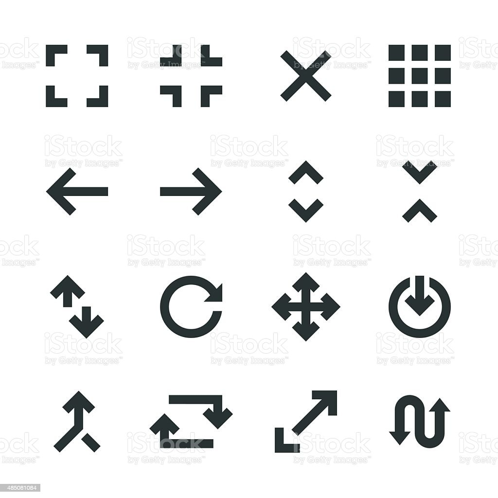 Navigation Silhouette Icons vector art illustration