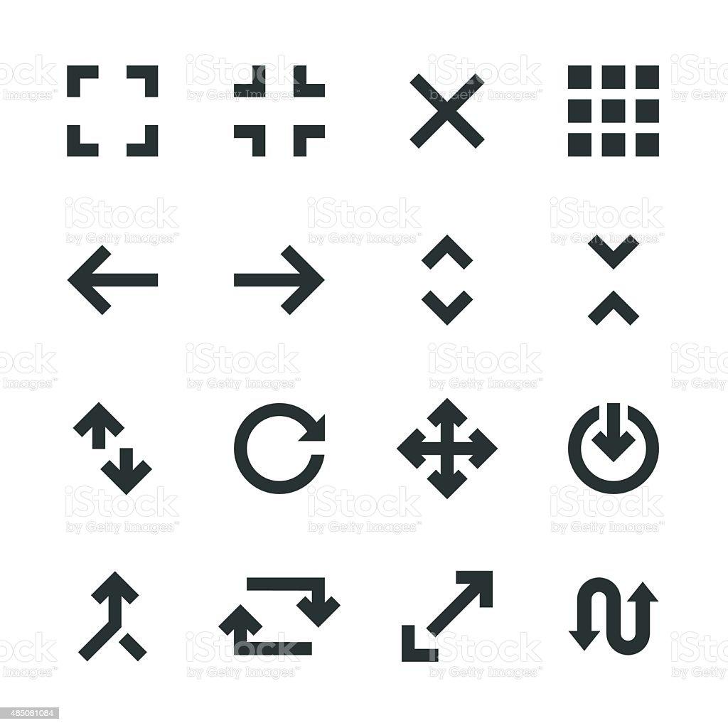 Navigation Silhouette Icons vector art illustration