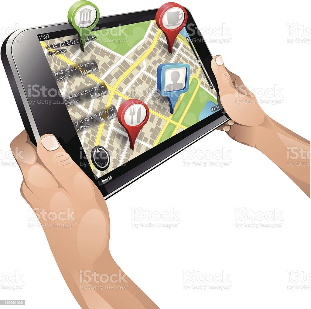 Navigation vector art illustration