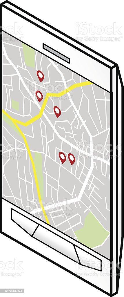 GPS Navigation royalty-free stock vector art