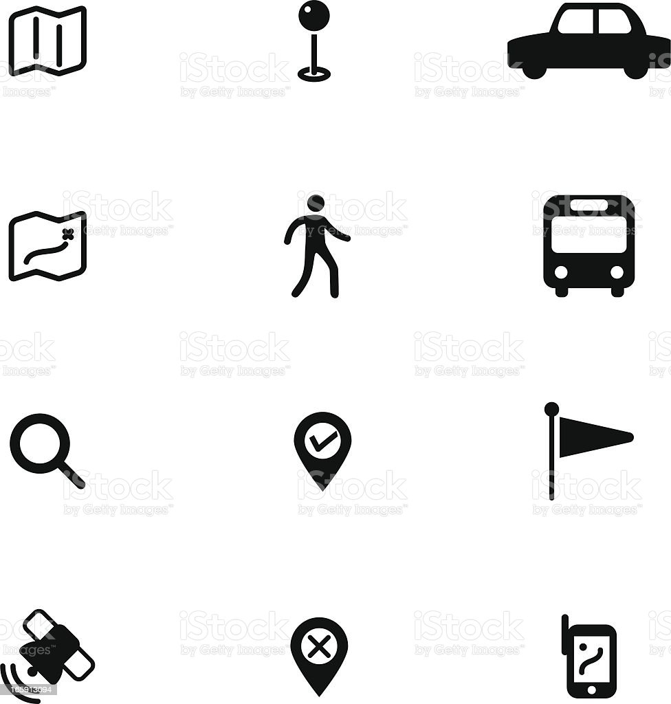 Navigator Icon Set royalty-free stock vector art