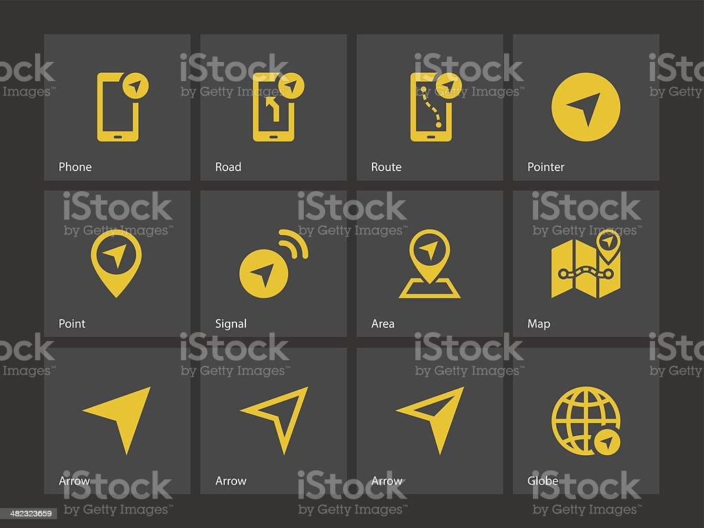 Navigator icons. vector art illustration