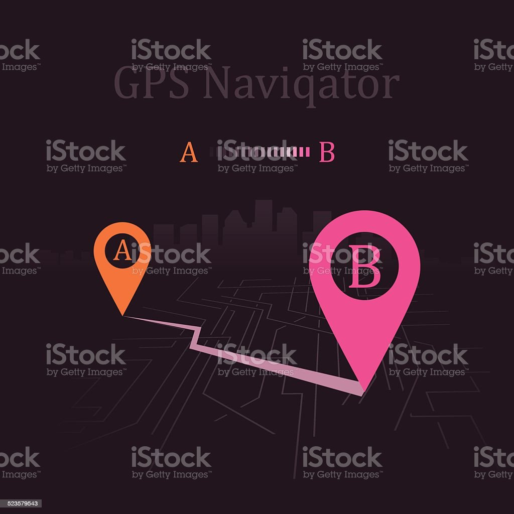 navigator vector art illustration