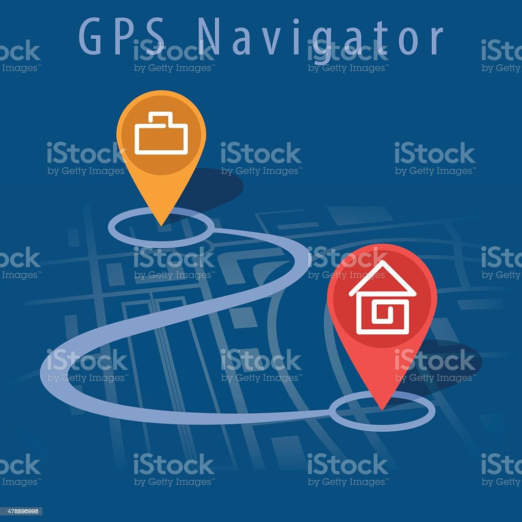 GPS navigator vector vector art illustration