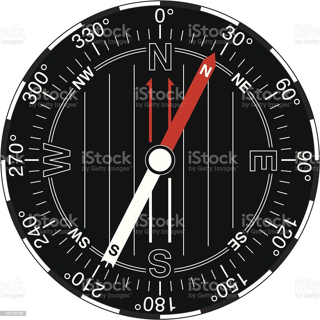 Navigator's Compass - Small royalty-free stock vector art