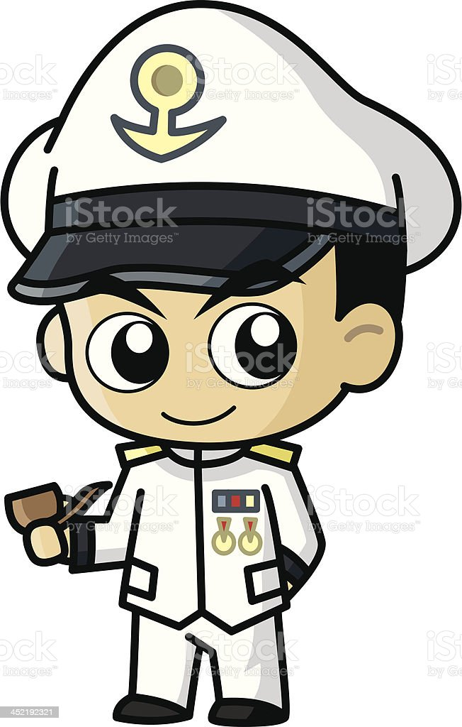 Navy Vector Cartoon royalty-free stock vector art