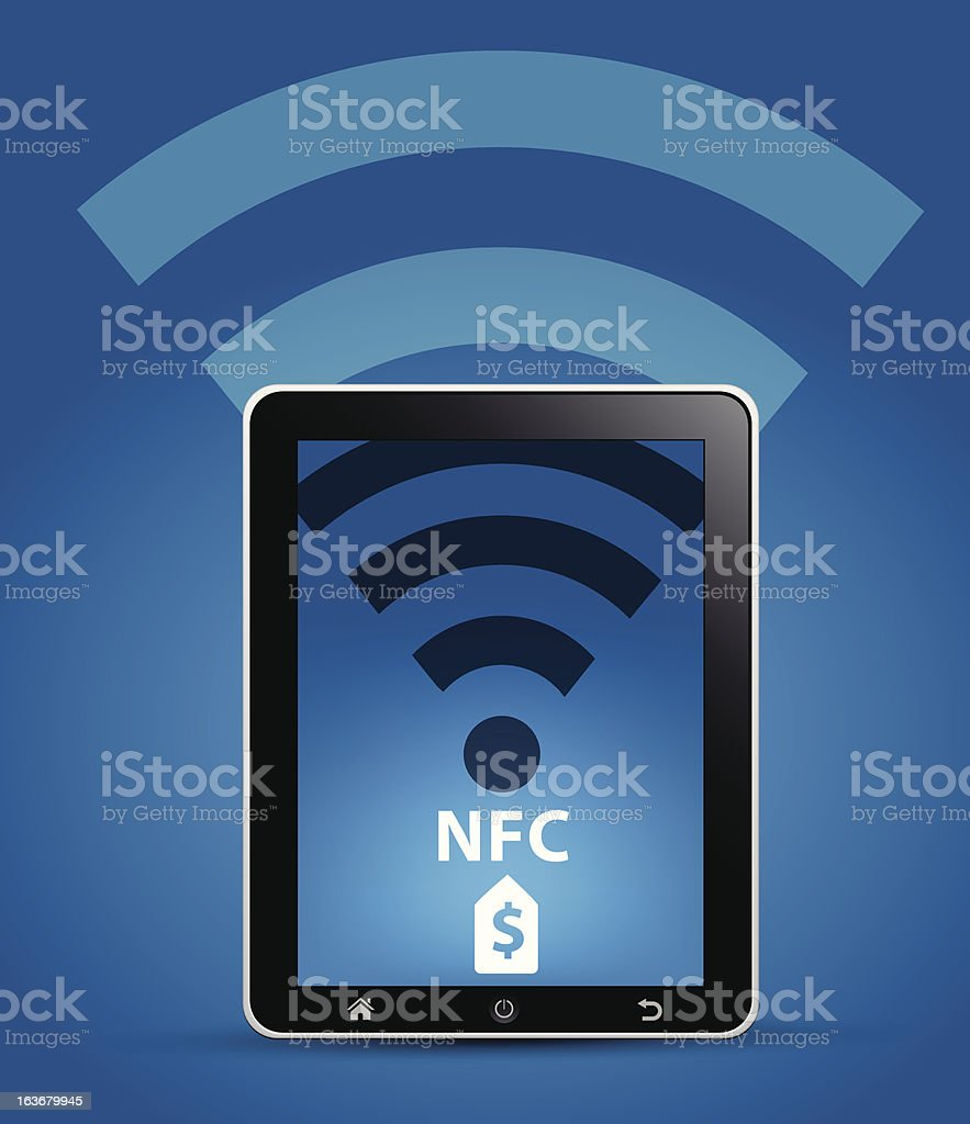 NFC Near Field Communication Concept royalty-free stock vector art