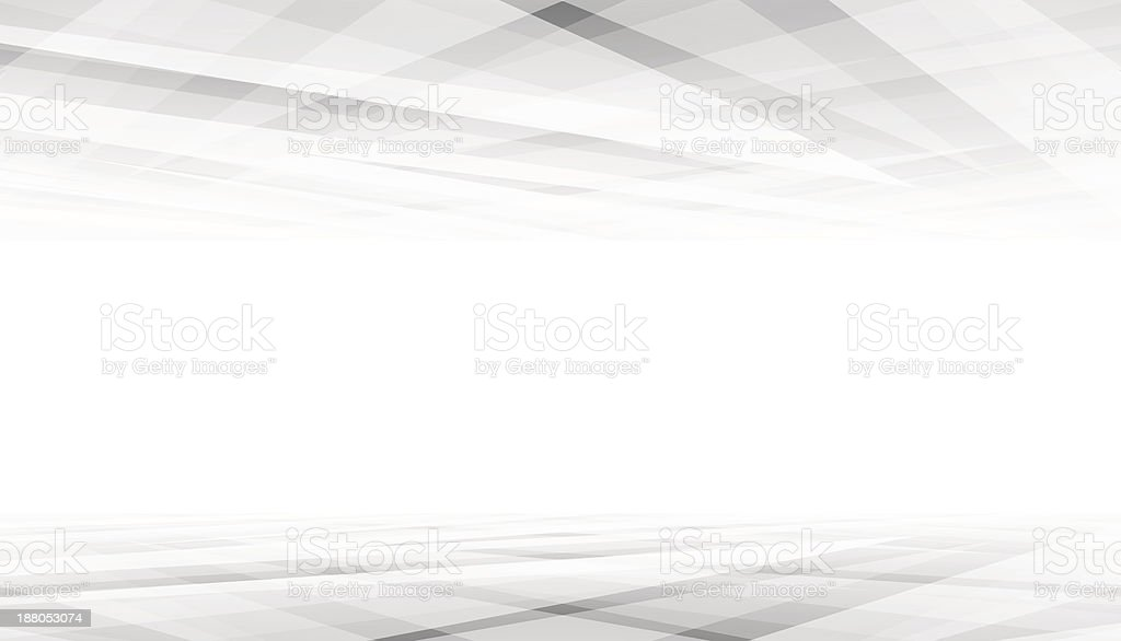 A nearly all white background, crossed with grey stripes royalty-free stock vector art