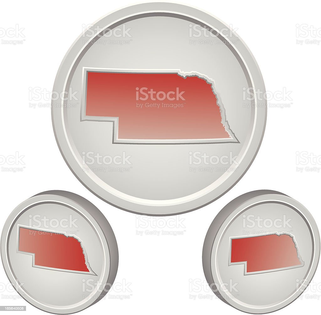 Nebraska Button royalty-free stock vector art