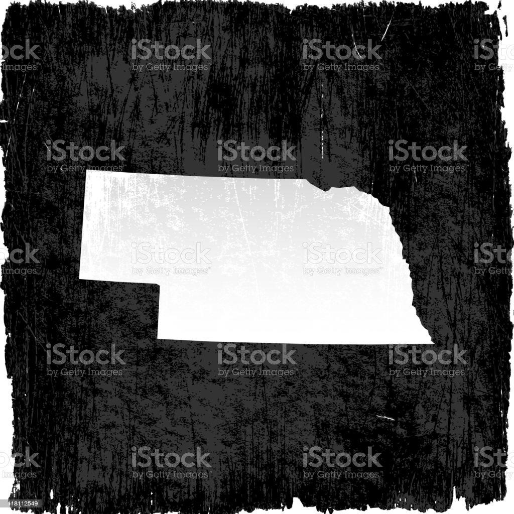 Nebraska on royalty free vector Background royalty-free stock vector art