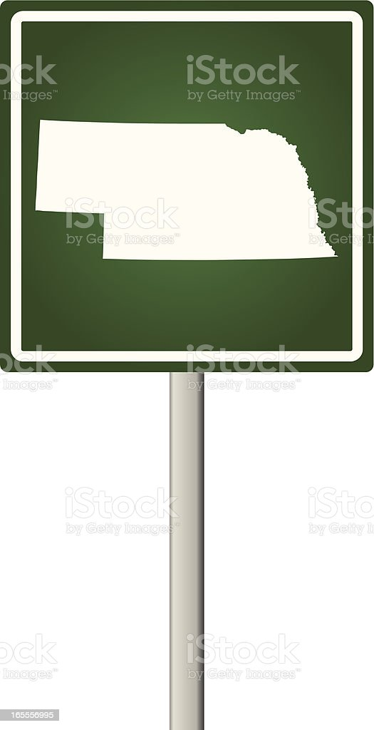 Nebraska Sign royalty-free stock vector art