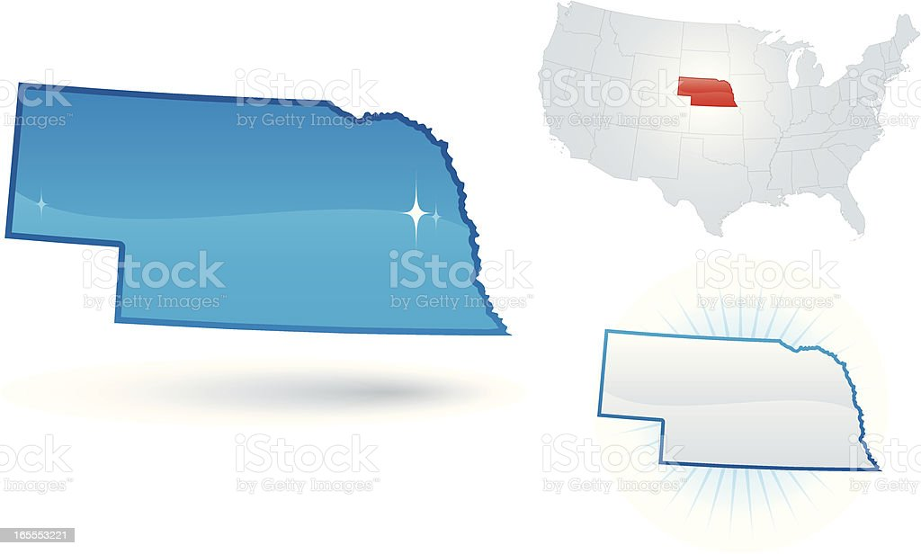 Nebraska State royalty-free stock vector art