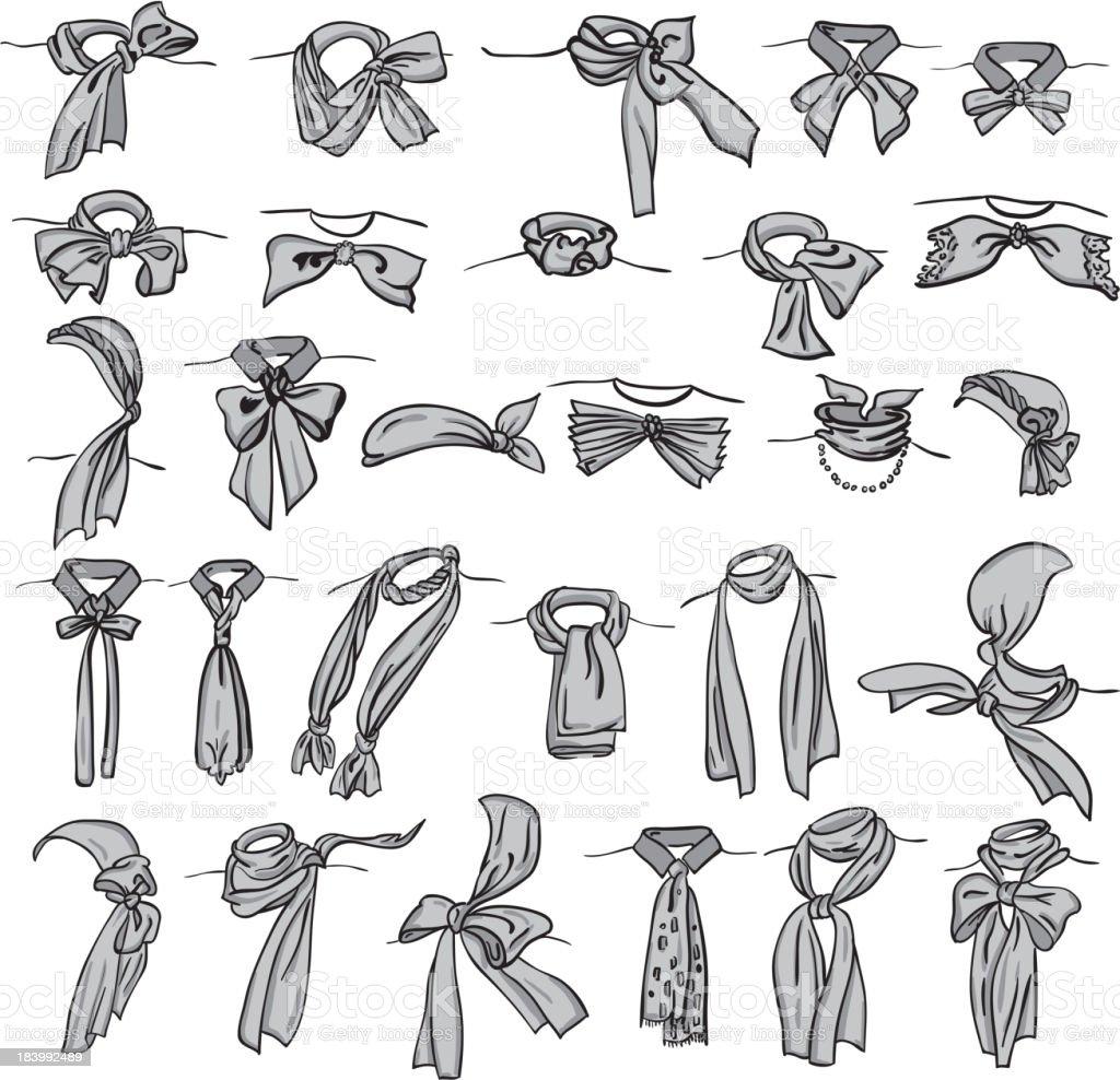 neckerchiefs royalty-free stock vector art