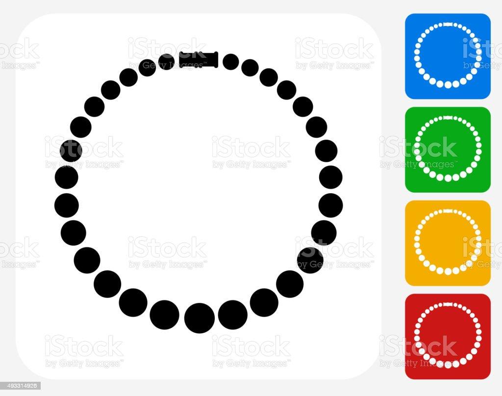 Necklace Icon Flat Graphic Design vector art illustration