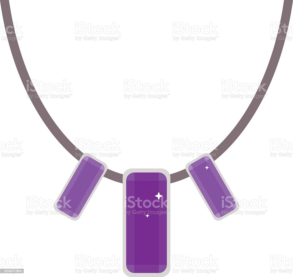 Necklace isolated on white background vector art illustration
