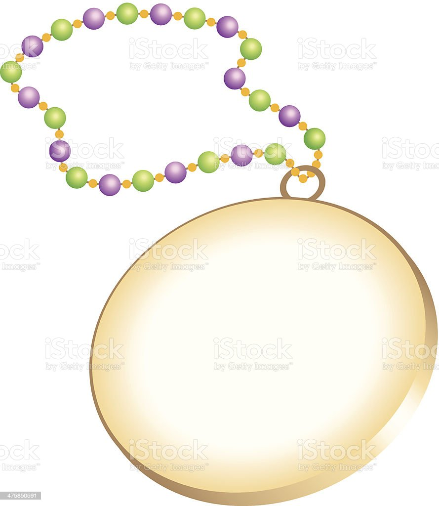 Necklace Mortice C vector art illustration