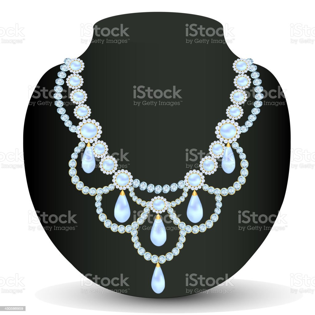 necklace women for marriage royalty-free stock vector art