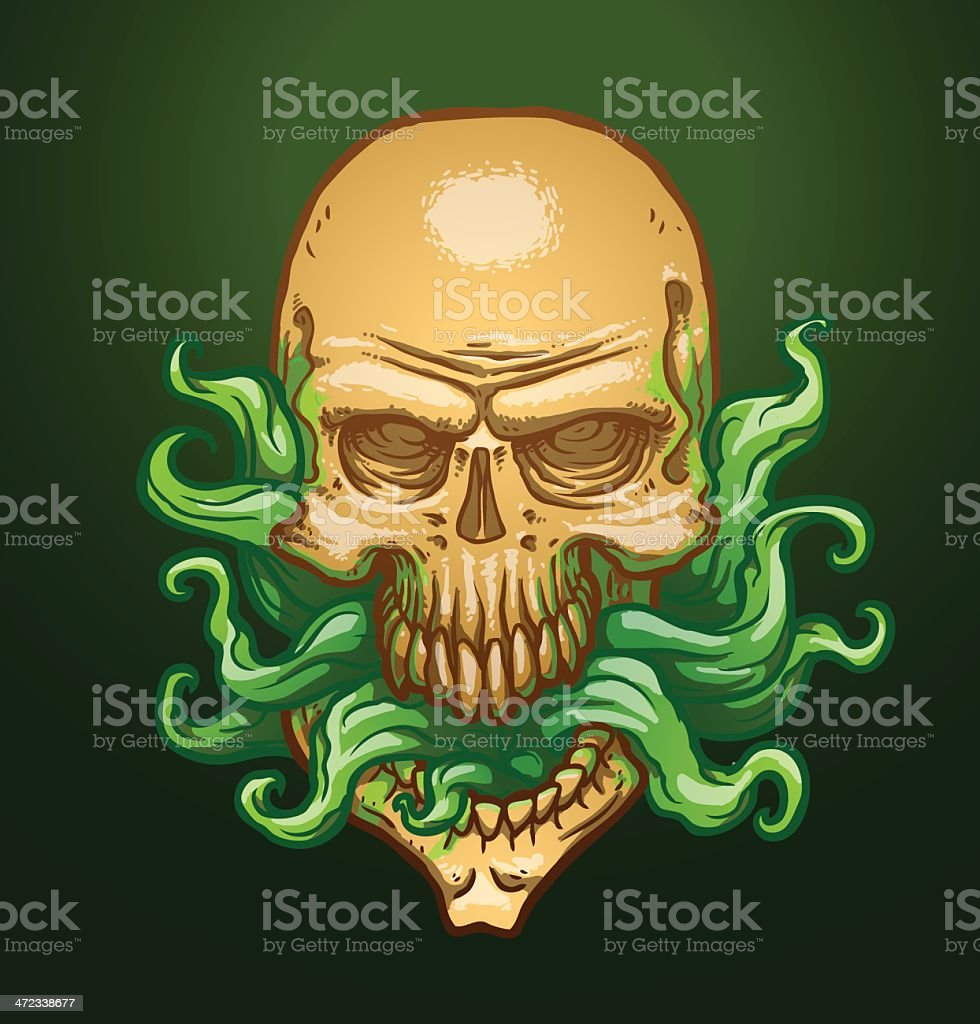 Necromancer skull royalty-free stock vector art
