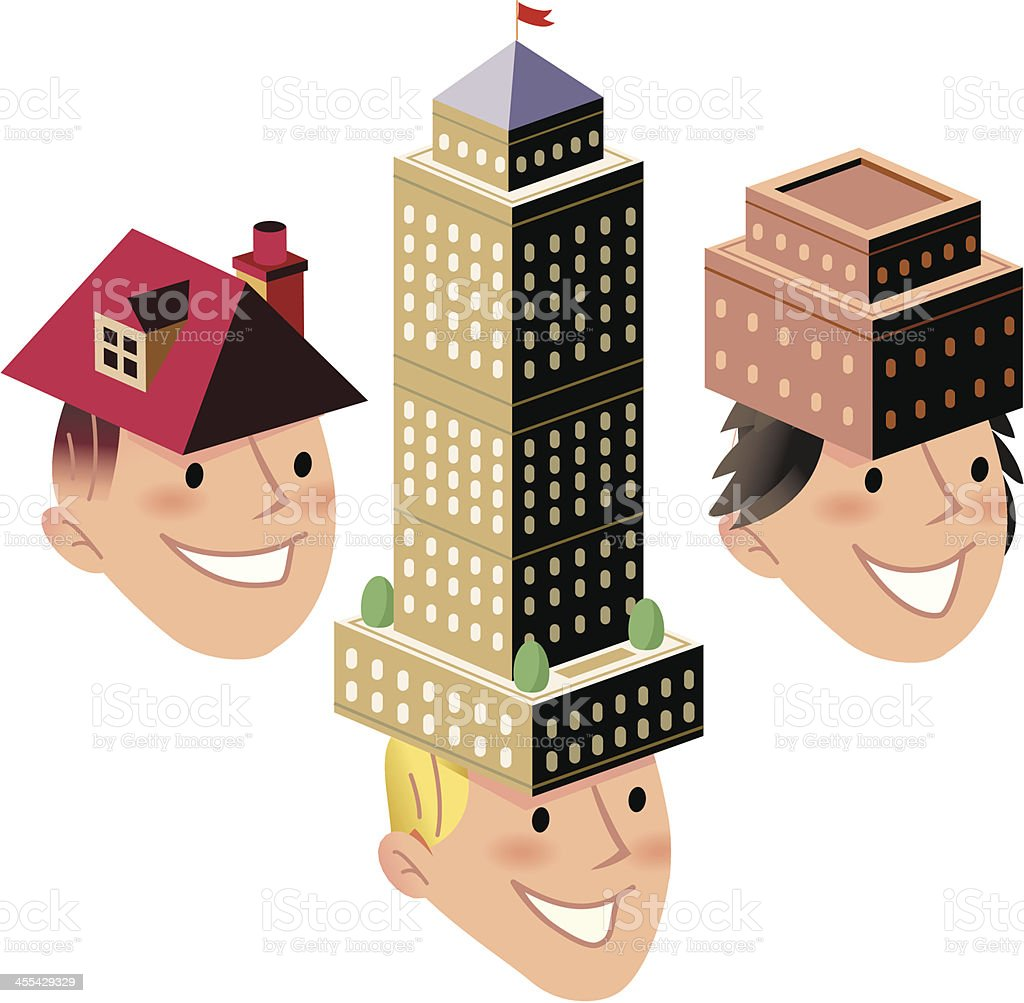 Need a roof over your head? royalty-free stock vector art